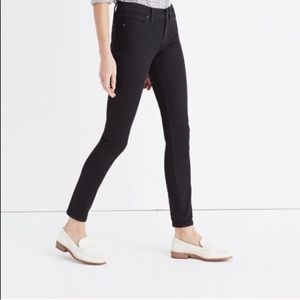 "Madewell 8"" Skinny Jeans in Black Frost"